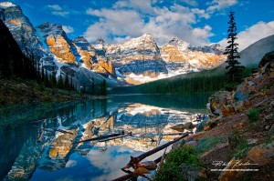 Moraine Lake and the Valley of the 10 peaks by Robert Berdan