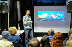 Brian presenting at the 2016 Calgary Travel and Outdoor Adventure Show